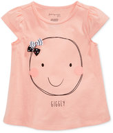 First Impressions Smile-Print Cotton T-Shirt, Baby Girls (0-24 months), Only at Macy's