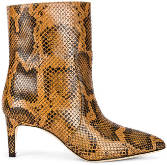 Paris Texas Python Print 60 Ankle Boot in Cognac | FWRD