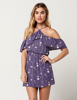 Full Tilt Floral Y Neck Dress