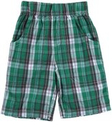 Nano Plaid Woven Shorts (Toddler/Kid) - Blue-6 Years