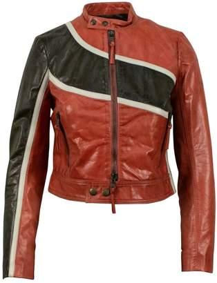 RED Valentino Orange Leather Jackets