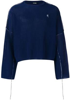 Raf Simons cropped ribbed knit sweater
