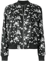 MICHAEL Michael Kors floral embroidered bomber jacket