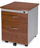 Bicknell Modular 2-Drawer Mobile Vertical Filing Cabinet Symple Stuff Color: Cherry