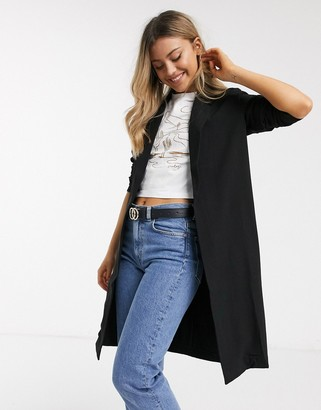 Pieces tailored jacket in black