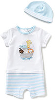 Starting Out Baby Boys Newborn-9 Months Noah's Ark Striped Shortall & Hat Set