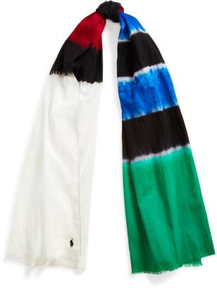 Ralph Lauren Tie-Dye Cotton Scarf