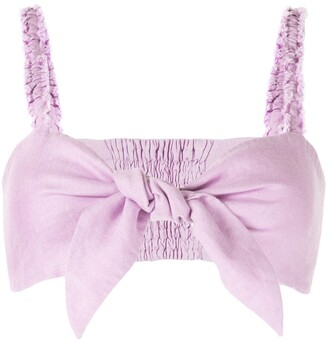 Venroy Tie Knot Bandeau Cropped Top