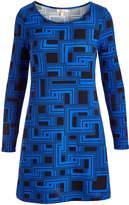 Aryeh Blue & Black Geometric Dress