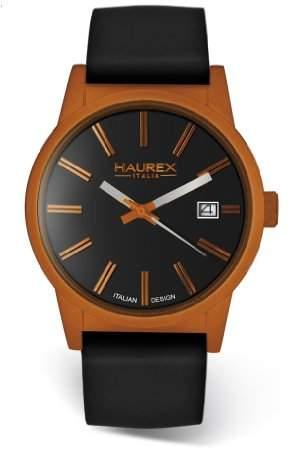Haurex Italy Men's 6K378UON Compact Orange Aluminum Case Dial Date Watch