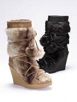 Victoria's Secret Colin Stuart Faux-fur Wedge Boot