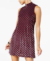 Teeze Me Juniors' Mock-Neck Velvet Dress