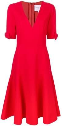 Carolina Herrera flared V-neck dress