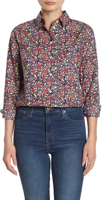 J.Crew Long Sleeve Floral Print Shirt (Petite)
