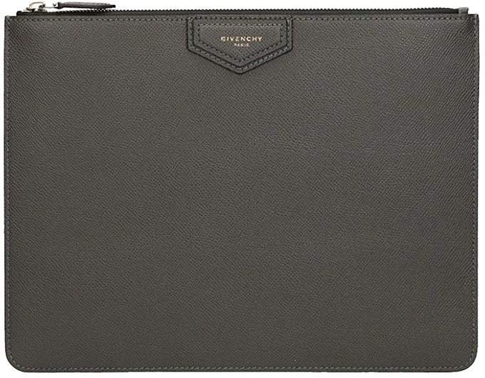 Givenchy Large Black Leather Pochette