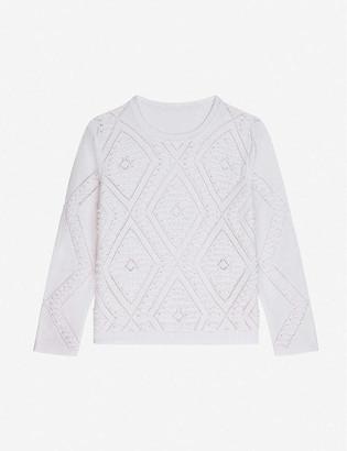 Claudie Pierlot Slim fit knitted cotton-blend jumper