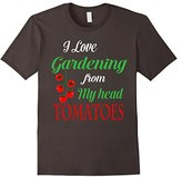 Men's I Love Gardening From My Head Tomatoes Shirt 2XL