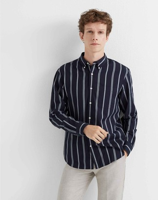 Club Monaco Slim Chelsea Stripe Shirt