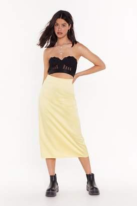 Nasty Gal Womens Bias Cut Midi Skirt - yellow - 12
