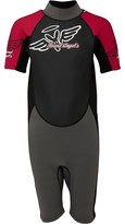 Board Angels Girls Shortie Wetsuit Black/Pink/Grey