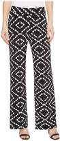 Tribal Pack and Go Travel Jersey 30 Printed Pull-On Wide Leg Pants Women's Casual Pants