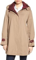 Gallery Water Repellent A-Line Rain Jacket (Regular & Petite)