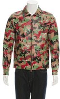 Valentino Camouflage Print Leather Jacket w/ Tags