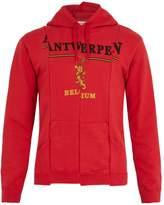 Vetements Deconstructed hooded cotton-blend sweatshirt