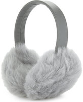 Karl Donoghue Ladies Grey Luxurious Fluffy Lambskin Earmuffs