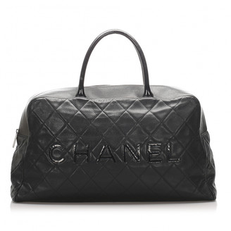 Chanel Black Leather Travel bags