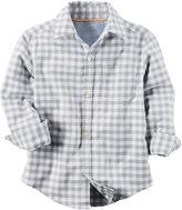 Carter's Button front Long Sleeve Henley Shirt - Preschool Boys