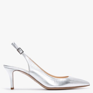 Iezzo Sliver Leather Sling Back Court Shoes