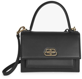 Balenciaga Extra-Small Sharp Leather Top Handle Satchel