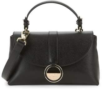 Versace Textured Leather Satchel