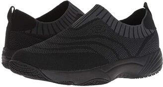 Propet Wash N Wear Slip-On Knit (Black/Dark Grey) Women's Shoes