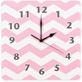 Trend Lab Pink Sky Chevron Wall Clock