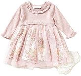 Bonnie Jean Bonnie Baby Girls Newborn-24 Months Popover Floral Mesh Dress