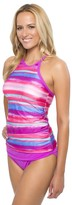 Athena Bermuda Sunrise High Neck Tankini