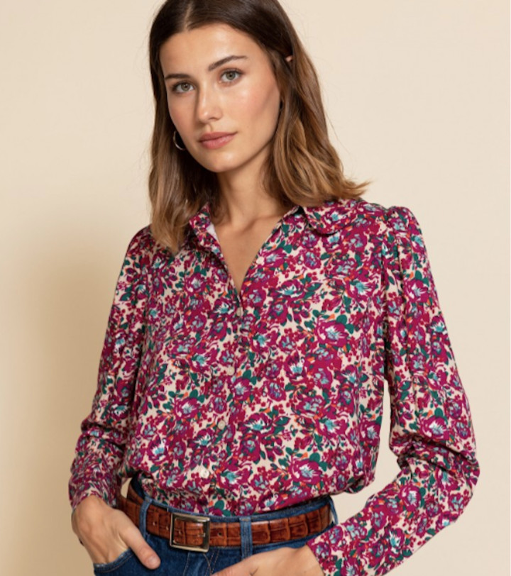 Thumbnail for your product : Margaux Floral Print Pink Shirt - 12
