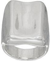 Simon Sebbag Sterling Silver Electroform Concave Ring
