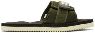 Suicoke SSENSE Exclusive Green Padri Sandals