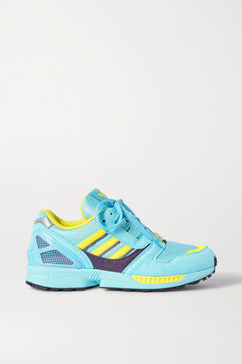 adidas Zx 8000 Faux Suede And Mesh Sneakers - Blue