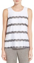 Nic+Zoe Women's Squares Away Embroidered Tank