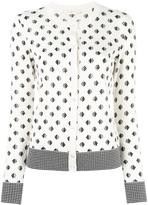 Tory Burch Kingfish print cardigan - women - Polyamide/Polyester/Spandex/Elastane/Merino - L