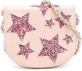 Roberto Cavalli glitter star saddle bag - kids - Yak - One Size