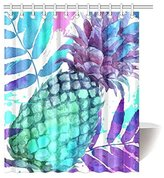 paradis de l'art Tropical Fruit for Home, Vintage Pineapples Fabric Shower Curtain Bathroom Sets with Hooks 60 X 72 Inches,With Hooks Set