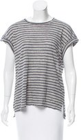 Frame Striped Linen T-Shirt