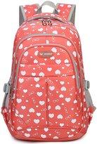 Tibes Printed School Backpack Girls Backpack Large Backpack Women Red1