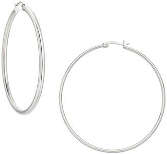 Savvy Cie Sterling Silver 58mm Hoop Earrings