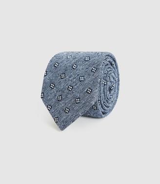 Reiss Adrianna - Silk Blend Tie in Blue